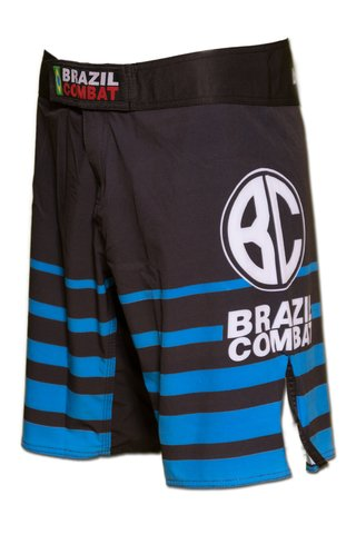 Grappling Short Shield IBJJF Preto e Azul