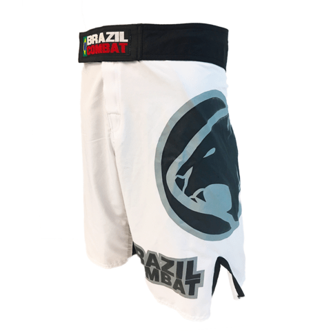 Grappling Short Jaguar Branco e Preto - Brazil Combat