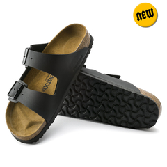Sandalia Birkenstock Arizona Birko Flor Black Regular (B9516C) 00