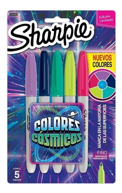 Set Sharpie Colores Cósmicos x 5