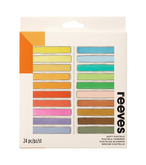 Giz Pastel Seco Reeves - 24 cores