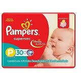 PAÑALES PAMPERS SUPERSEC PEQUEÑO 30PADS x 8 PAQ MEGAPACK