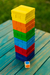 Jenga color con dado en internet