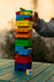 Jenga color con dado