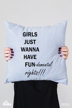 Capa De Almofada Girls Just Wanna Have Fundamental Rights - MinKa Camisetas Feministas