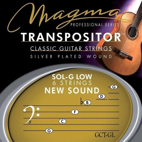 Encordado Magma Transpositor Guitarra Clasica Sol G LOW