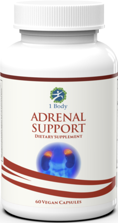 Adrenal Support (60 Vegan Caps) - 1 Body
