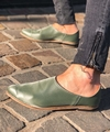 Slippers flats green