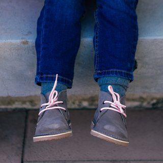Bototo gamuza gris con cordones - Pattipop kids shoes