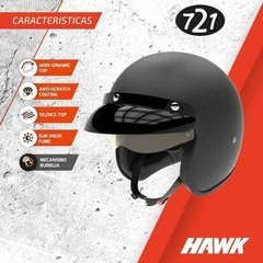 Casco Moto Hawk 721 Abierto Vintage Never Give Up Oficial - EL PARCHE