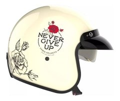Casco Moto Hawk 721 Abierto Vintage Never Give Up Oficial - comprar online