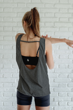 musculosa MEGAN Gris Oscuro