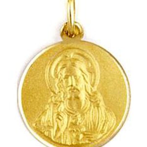 Medalla de oro 18 Kilates Sagrado Corazon 20mm #MED0251