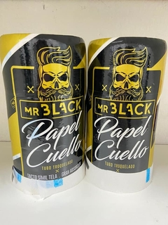 Papel cuello. Mr black. Barbería