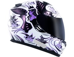 CAPACETE MT BLADE BUTTERFLY WHITE/PINK - AUTOMOTOS