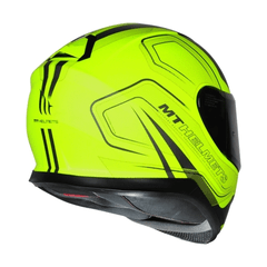 CAPACETE MT THUNDER 3 TRACE MATT YELLOW - AUTOMOTOS