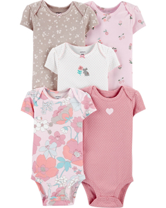 Kit com 5 bodies da Carter's - Floral