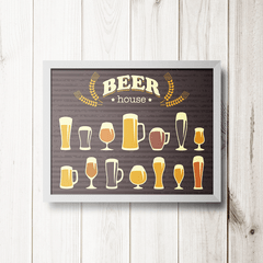 PLACA BEER HOUSE - comprar online
