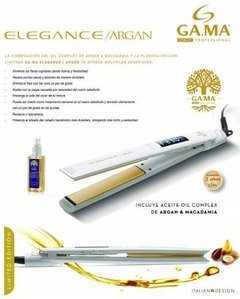 Planchita De Pelo Gama Elegance Digital Argan Patin X L en internet