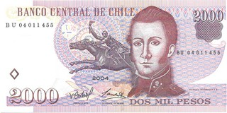 BILLETE DE CHILE, 2000 PESOS, AÑO 2004