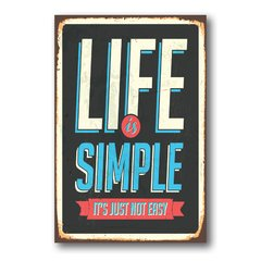 PLACA LIFE IS SIMPLE - comprar online