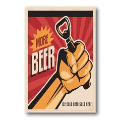 PLACA MORE BEER - comprar online