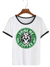 Remera Dama Ringer Alice Drink