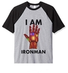 Remera Unisex Ranglan I am Iron Man