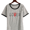 Remera Dama Ringer Loser Lover It