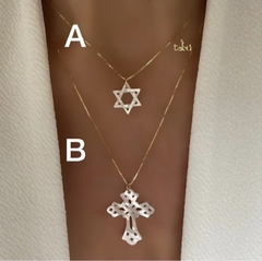 CADENA CROSS o  DAVID STAR NACAR - comprar online