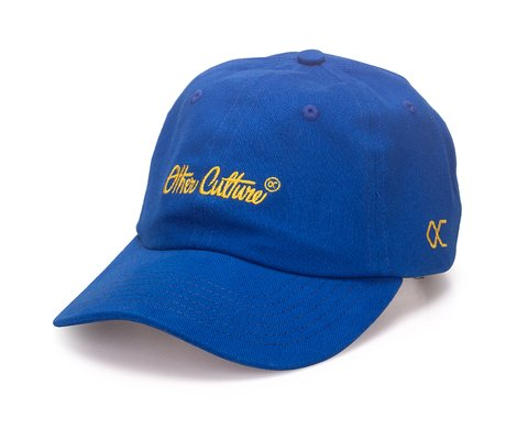 Other Culture bone aba curva Azul Dad Hat - Signature Brand Royal