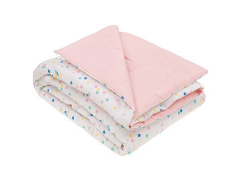 Edredom Mini Cama/Junior Confete Rosa