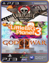 PS3 PACOTE IW 19 MÍDIA DIGITAL LittleBigPlanet 3, GOD OF WAR 2, Skullgirls Encore