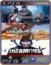 PS3 PACOTE IW 4 MÍDIA DIGITAL Resident Uncharted Infamous