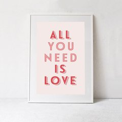 CUADRO ALL YOU NEED IS LOVE PINK - comprar online