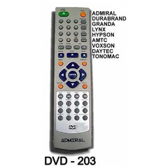 DVD 203 - Control Remoto DVD ADMIRAL GLOBAL HOME NOBLEX SANYO