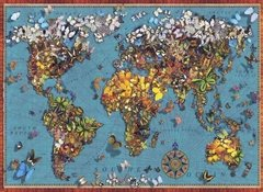 Butterfly World Map, 1000p