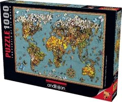 Butterfly World Map, 1000p - comprar online