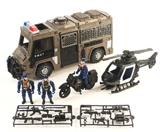 Play set  Police force moto + helicoptero - comprar online