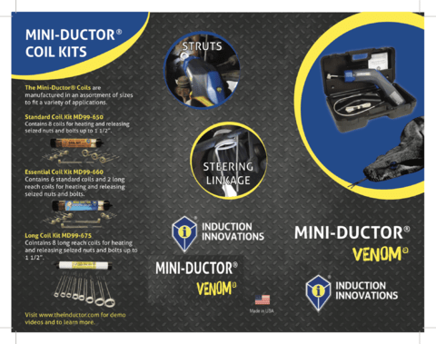 GENERADOR DE CALOR POR INDUCCION MINI-DUCTOR VENOM 220V INDUCTION INNOVATIONS - AYR Tools