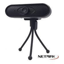 Webcam Netmak Microfono Video Hd 1280x720p Tripode NM-WEB02 - comprar online