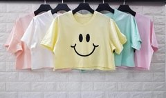 t-shirt cropped happy face
