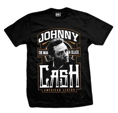 Remera JOHNNY CASH THE MAN IN BLACK