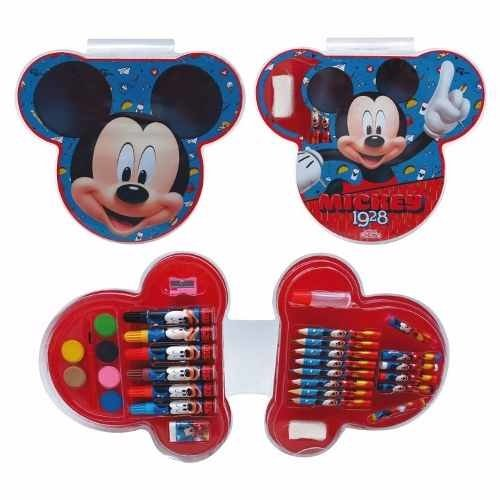 Set De Arte Disney Minnie Mickey Mouse Marcadores 33 Piezas