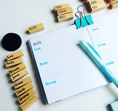 Bullet Journal Meses/Días + 1 Mini Pad color Negro - comprar online
