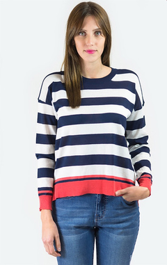 Sweater Oxford Polo Club Mujer Rayado S19606