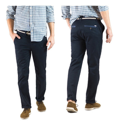 Pantalon Gabardina Oxford Polo Club Hombre Regata Navy