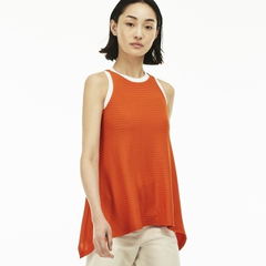 Musculosa Remera Lacoste Mujer Rayada Sin Mangas Tf2309 - comprar online