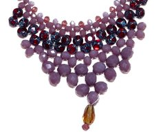 Queen necklace crystals and Czech porcelain - buy online