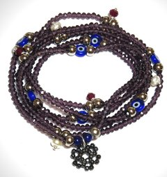 Merlot necklace/bracelet Sorte
